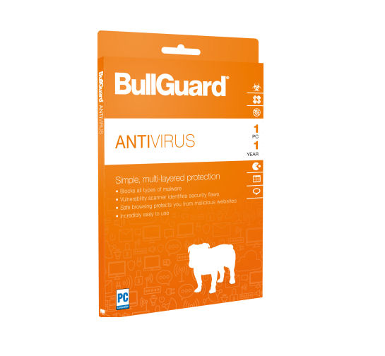 BullGuard Antivírus para 01 dispositivo para 01 ano