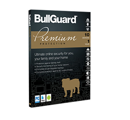 BullGuard Premium Protection para 15 dispositivos para 01 ano