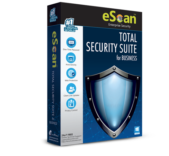 eScan Total Security Suite for Business para 05 usuários para 01 ano