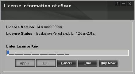 Como registrar o eScan versão 14 em diante